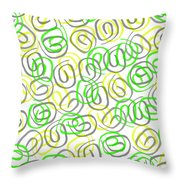 Twirls Throw Pillow