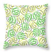 Twirls Throw Pillow by Louisa Knight
