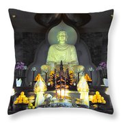 Twisted Buddha Throw Pillow
