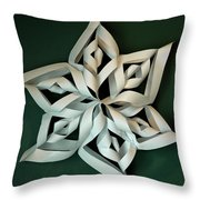Twisted Paper Christmas Star Throw Pillow