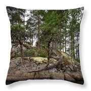 Twisted Pine Throw Pillow