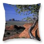 Twisted Tree Monument Valley Throw Pillow