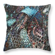 Twistered Throw Pillow