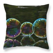 Two And A Half Bubbles Throw Pillow