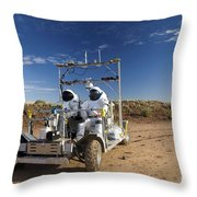 Two Astronauts Take A Ride On Scout Throw Pillow