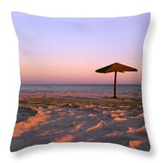 Two Beach Umbrellas Throw Pillow