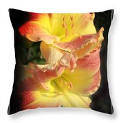 Two Beautiful Sisters Throw Pillow