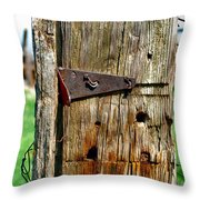 Two Bent Nails Throw Pillow