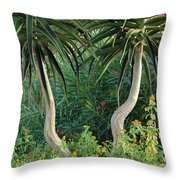 Two Bent Trees Throw Pillow