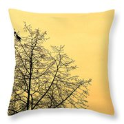 Two Birds In A Tree Throw Pillow