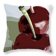 Two Cherries Throw Pillow