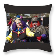 Two Clowns Throw Pillow