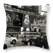 Two Cops On Broadway Throw Pillow