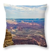 Two Crows Watch Over The Canyon Throw Pillow