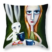 Two Cup Cakes Throw Pillow by Leanne Wilkes