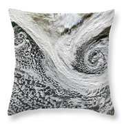 Two Cyclones Forming Throw Pillow