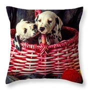 Two Dalmatian Puppies Throw Pillow by Garry Gay