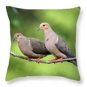 Two Doves Throw Pillow