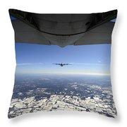 Two Ec-130j Commando Solo Aircraft Fly Throw Pillow