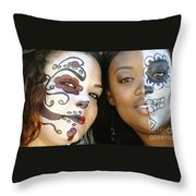 Two Faces Throw Pillow