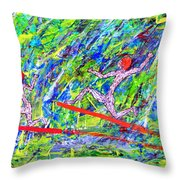 Two Flying Surfers Two K O Nine Throw Pillow