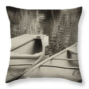 Two For The Lake Throw Pillow