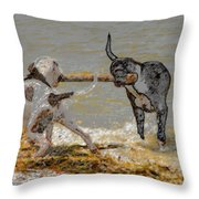 Two Good Friends Throw Pillow