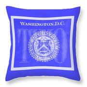 Two In Negative Blue Throw Pillow