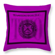 Two In Purple Throw Pillow