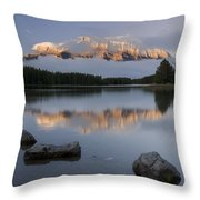 Two Jack Lake, Banff National Park Throw Pillow