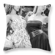 Two Ladies Throw Pillow