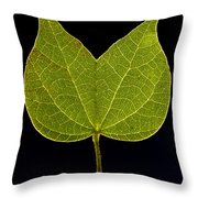 Two Lobed Leaf Throw Pillow