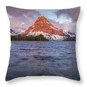 Two Medicine Lake Panorama Throw Pillow