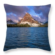 Two Medicine Morning Panorama Throw Pillow