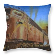 Two Minutes Late Throw Pillow