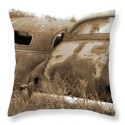 Two Old Rear Ends-sepia Throw Pillow