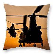 Two Royal Air Force Ch-47 Chinooks Take Throw Pillow
