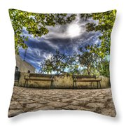 Two Seats Throw Pillow