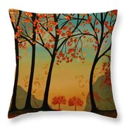 Two Small Trees Throw Pillow