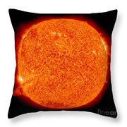Two Solar Prominences Erupt Throw Pillow