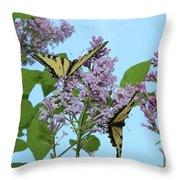 Two Swallowtails Throw Pillow