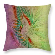 Two Tone Frac Abstract Throw Pillow