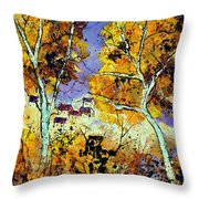 Two Trees In Fall Throw Pillow