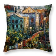 Two Village Lamps Throw Pillow