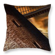 Two Window Mill Throw Pillow