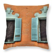 Two Windows Throw Pillow
