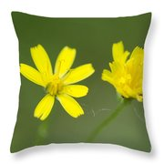 Two Yellow Flowers Throw Pillow
