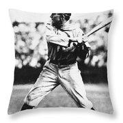 Ty Cobb (1886-1961) Throw Pillow