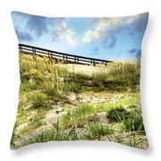 Tybee Island Dunes No.2 Throw Pillow