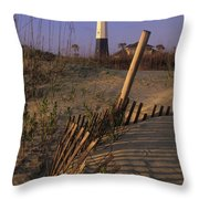 Tybee Island Lighthouse - Fs000812 Throw Pillow
